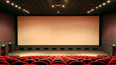 Photograph of empty film theater
